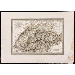 1827 - Carte de la Suisse