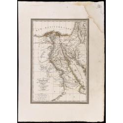 1827 - Carte de l'Égypte