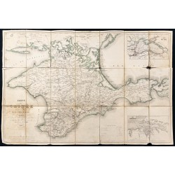 1854 - Carte de la Crimée