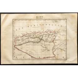 1843 - Carte de l'Algérie