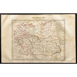1843 - Carte de l'Allemagne.