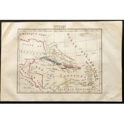 1843 - Carte des Antilles