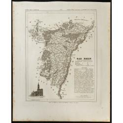 1833 - Département du Bas Rhin