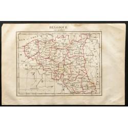 1843 - Carte de la Belgique