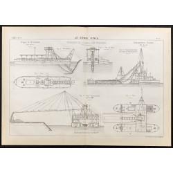 1884 - Dragage du canal de...