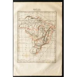 1843 - Carte du Brésil
