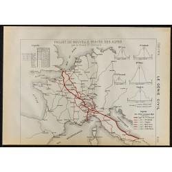 1884 - Percée des Alpes par...