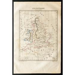 1843 - Carte d'Angleterre