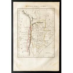 1843 - Carte de l'Argentine...
