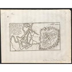 1705 - Plan ancien de Montmédy