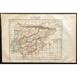 1843 - Carte de l'Espagne