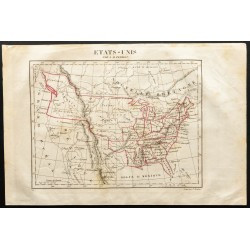 1843 - Carte des États-Unis...