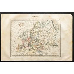 1843 - Carte de l'Europe...