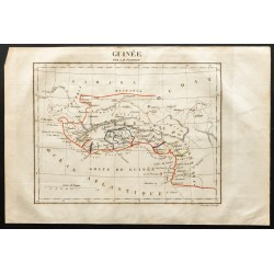 1843 - Carte de la Guinée