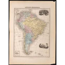 1884 - Carte de l'Amérique...