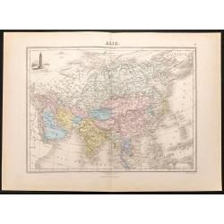 1884 - Carte de l'Asie