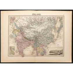 1884 - Carte de l'Asie...