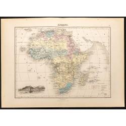1884 - Carte de l'Afrique