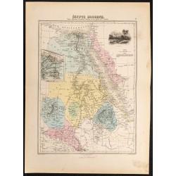 1884 - Carte de l'Égypte...