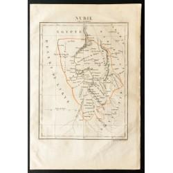 1843 - Carte de la Nubie