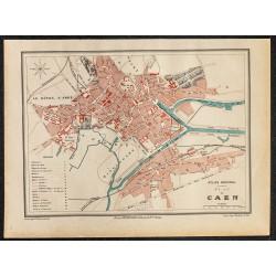 1896 - Plan de Caen