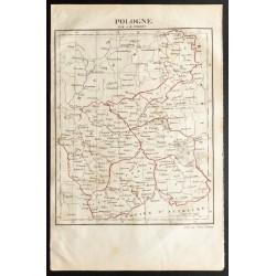 1843 - Carte de la Pologne