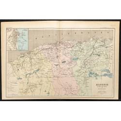 1896 - Carte de l'Algérie
