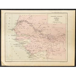 1896 - Carte du Sénégal et...