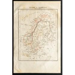1843 - Carte de la Suède et...