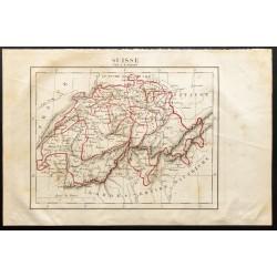 1843 - Carte de la Suisse