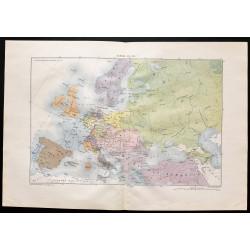 1880 - Carte de l'Europe en...