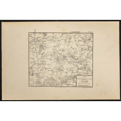 1881 - Carte de la bataille...