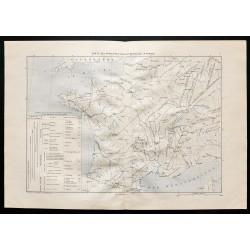 1880 - Carte des principaux...