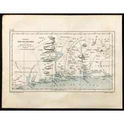 1884 - Carte de la cote des...