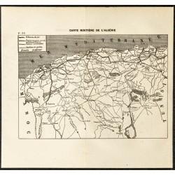 1884 - Carte routière de...