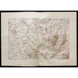 1880 - Carte du pays entre...