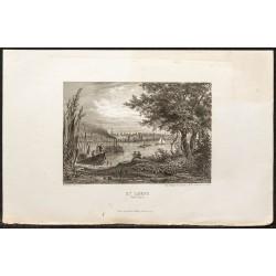 1862 - Vue de la ville de...