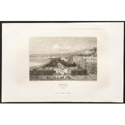 1862 - Naples vue du jardin...