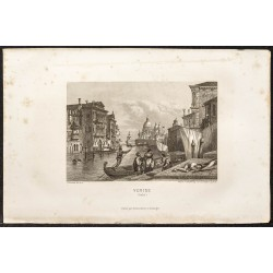 1862 - Vue de Venise en Italie