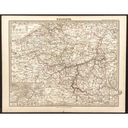 1873 - Carte de Belgique