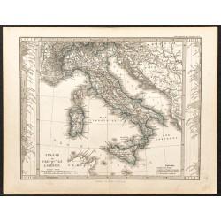 1873 - Carte de l'Italie