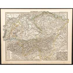 1873 - Carte de l'Allemagne...