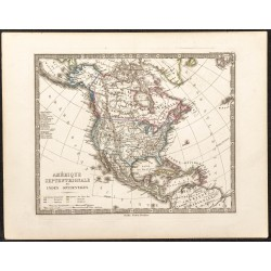 1873 - Carte de l'Amérique...