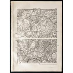 1880 - Carte d'Auxonne et...