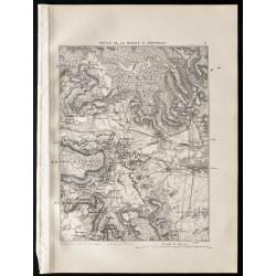 1880 - Carte du défilé de...