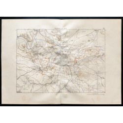 1880 - Carte des environs...