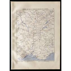 1880 - Carte des chemins de...