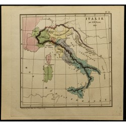 1826 - Carte de l'Italie