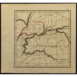 1826 - Carte des Alpes
