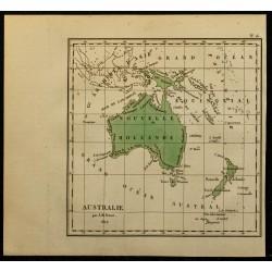 1827 - Carte de l'Australie